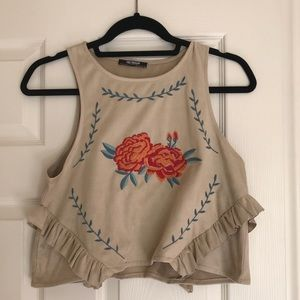 Zara Flower Croptop